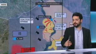 À Manbij, dans le nord de la Syrie, les milices rebelles syriennes, soutenues par les États-Unis, affrontent les jihadistes de l'EI.