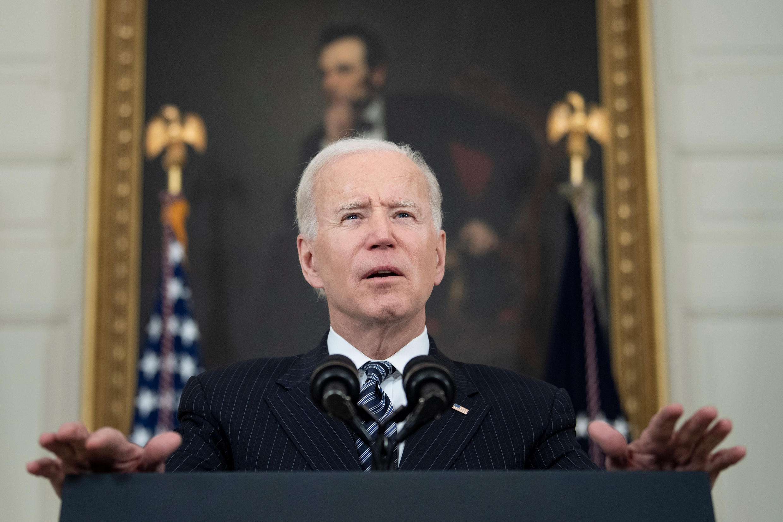 Le président américain Joe Biden s'exprime depuis la Maison Blanche le 22 avril 2021