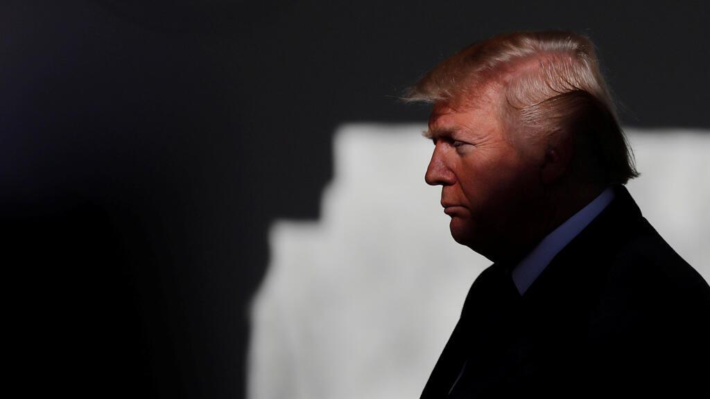 El presidente de EE. UU., Donald Trump, se prepara para participar en la manifestación anual de la Marcha por la Vida, que tuvo lugar en el National Mall, en la Casa Blanca Rose Garden en Washington, EE. UU., El 19 de enero de 2018.
