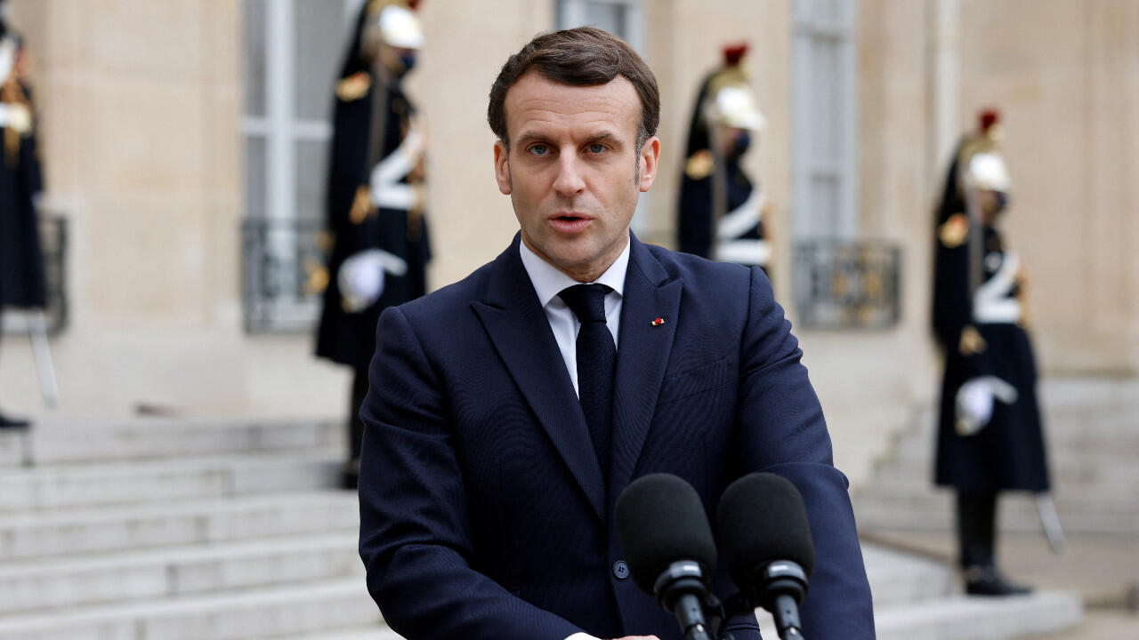 Macron says world must 'define clear red lines' with Russia as tensions rise over Ukraine