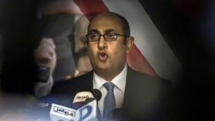 المحامي اليساري المدافع عن حقوق الإنسان خالد علي في القاهرة في 6 تشرين الثاني/نوفمبر 2017