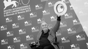 Bernardo Bertolucci en la edición número 70 del Festival de Cine de Venecia. 28 de agosto de 2013.