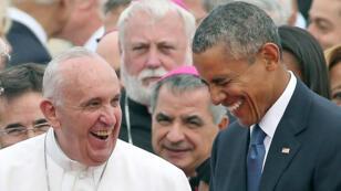 البابا فرنسيس والرئيس الأمريكي باراك أوباما