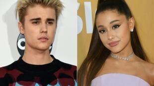 """Justin Bieber et Ariana Grande, réunis pour un duo, """"Stuck with You"""""""