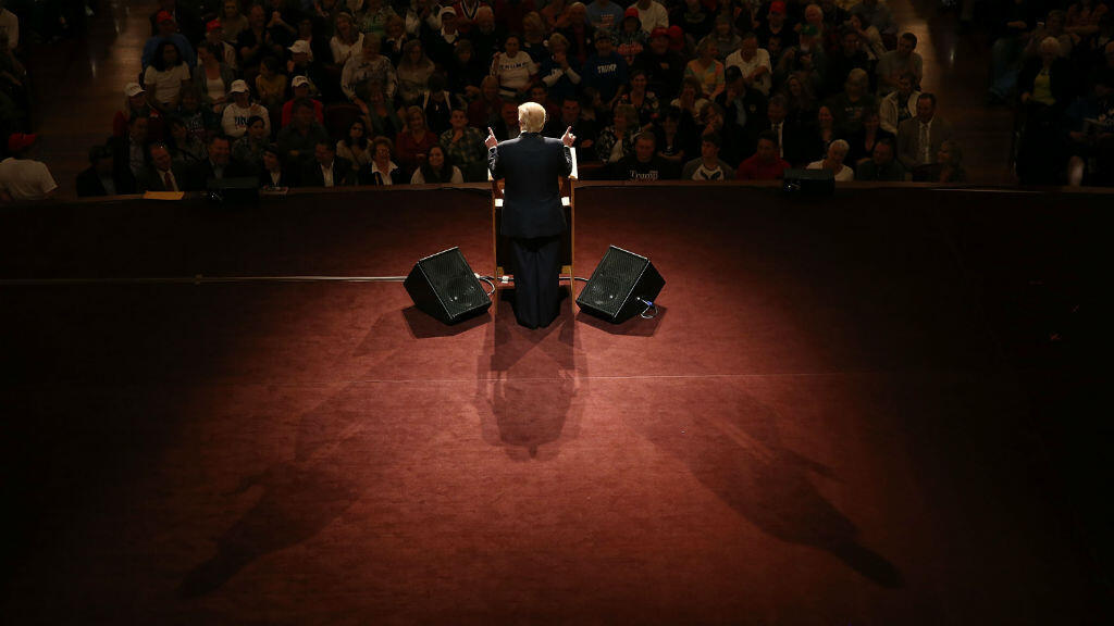 Donald Trump à Carmel dans l'Indiana, lundi 2 mai 2016.