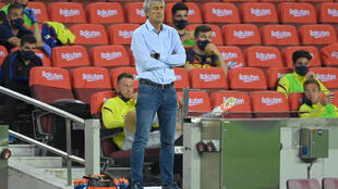 Quique Setien is under pressure despite being appointed Barcelona coach in January.