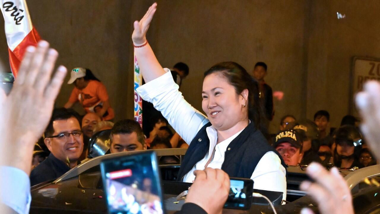 Keiko Fujimori sort de prison le 29 novembre 2019.