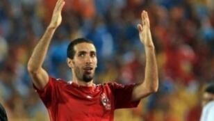 لاعب المنتخب المصري والنادي الأهلي سابقا محمد أبو تريكة