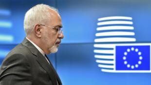 Le ministre iranien des Affaires étrangères, Mohammad Javad Zarif, à Bruxelles le 15 mai 2018.