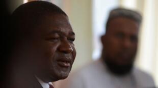 Le président mozambicain, Filipe Nyusi, lors de son déplacement au bureau de vote, le 15octobre2019 à Maputo.
