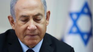 Le Premier ministre Benjamin Netanyahou en Conseil des ministres, le 28 octobre 2018.