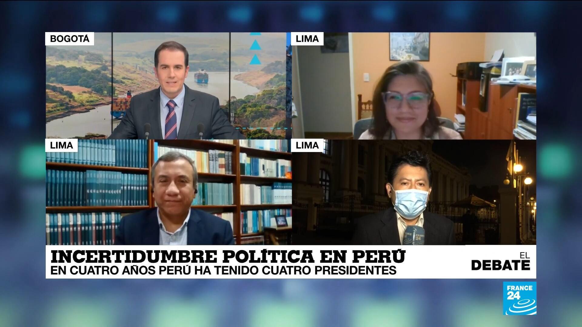el debate - incertidumbre política Perú