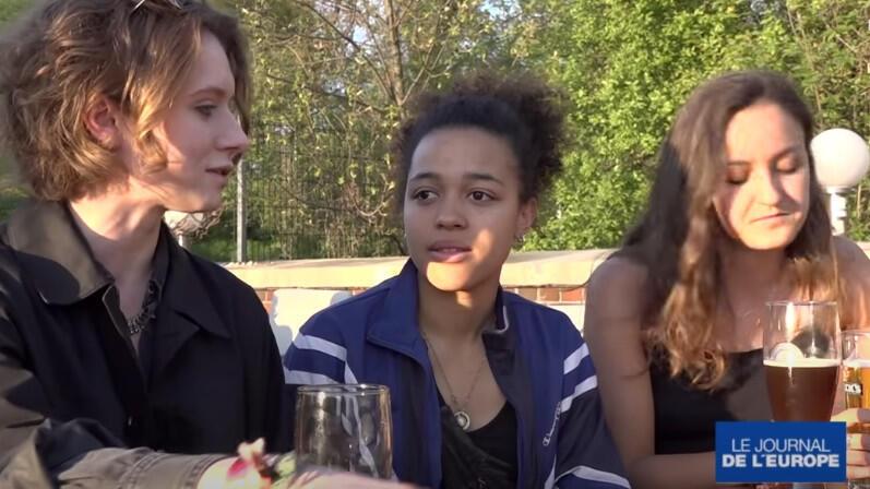Des étudiants européens en échange Erasmus à Berlin.