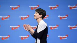 La coprésidente de l'Alternative pour l'Allemagne (AfD),  Frauke Petry, le 1er mai 2016 à Stuttgart.