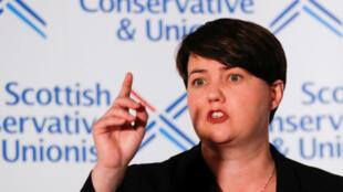 La líder del Partido Conservador escocés, Ruth Davidson, anunció su dimisión, en Edimburgo, Escocia, Reino Unido, el 29 de agosto de 2019.