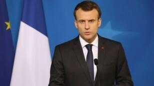 """الرئيس الفرنسي إيمانويل ماكرون يندد بأعمال العنف في باريس ويصفها بـ""""غير المقبولة"""""""