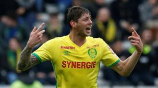 Emiliano Sala sous le maillot du FC Nantes.