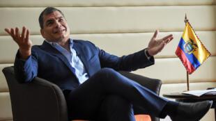 El expresidente Rafael Correa se ha mantenido alejado de la vida política de su país tras la derrota que sufrió en el referendo de febrero de 2018.