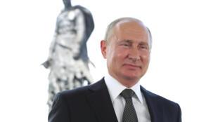 الرئيس الروسي فلاديمير بوتين يلقي كلمة متلفزة إلى الأمة، الثلاثاء 30 حزيران/يونيو 2020