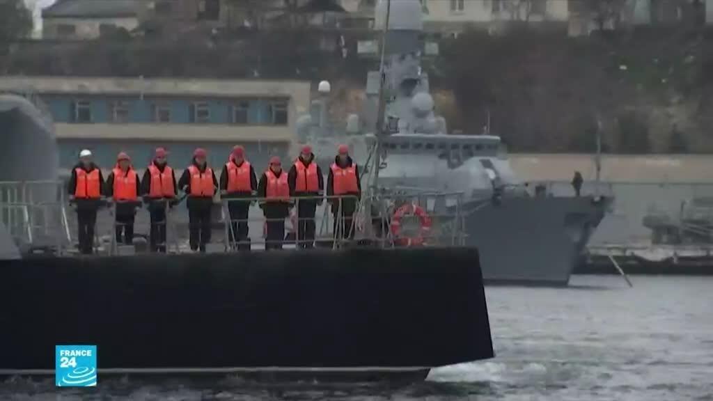 روسيا تبدأ تدريبات في البحر الأسود قبل وصول سفينتين حربيتين أمريكيتين