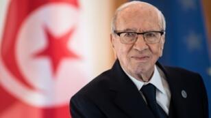 Le président tunisien, Beji Caid Essebsi, lors d'une visite au palais présidentiel Bellevue à Berlin, le 30 octobre 2018.