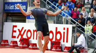 Feet on the ground: Renaud Lavillenie plans to compete in the Oslo Diamond League meeting, where he won in 2016, but without leaving France