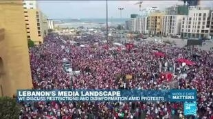 "2019-10-24 10:10 Lebanon media landscape: ""There have been attempts to give this uprising a pro-Hezbollah spin"""