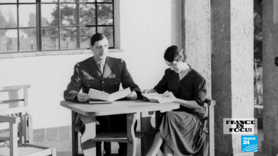 Charles De Gaulle and his wife Yvonne