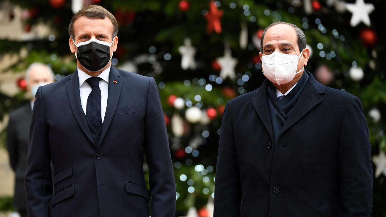 Emmanuel Macron et Abdel Fattah al-Sissi
