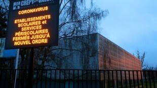 Devant le lycée Jean de la Fontaine, à Crépy-en-Valois, le 2 mars 2020.