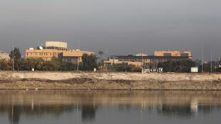 Vue générale de l'ambassade américaine à Bagdad, en Irak, le 3 janvier 2020.
