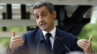 Nicolas Sarkozy lors du meeting de jeudi 18 juin 2015 à l'Isle-d'Adam.