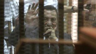 Hosni Moubarak lors de son procès en mai 2014.