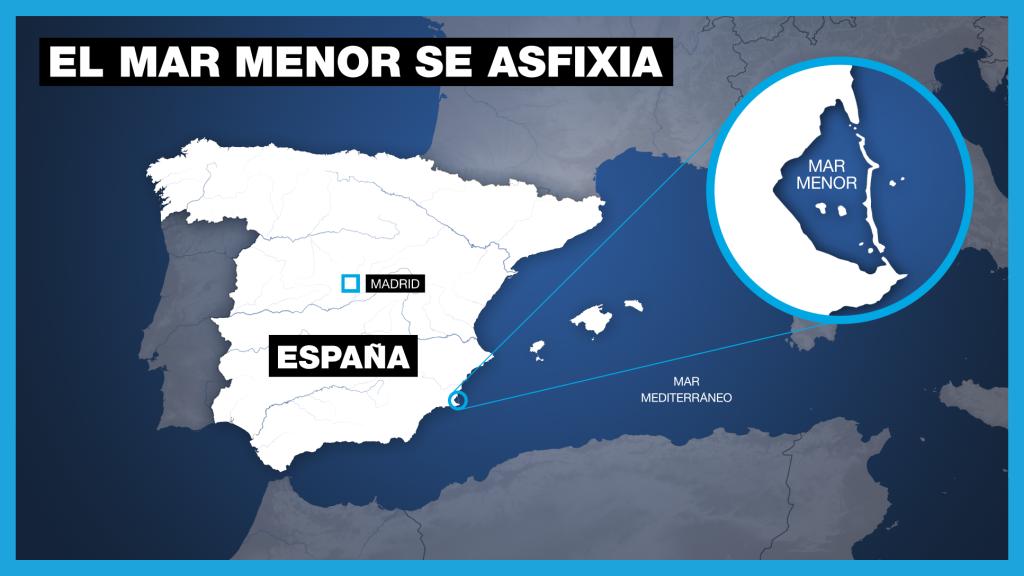 El mar Menor es una de las mayores lagunas saladas de Europa