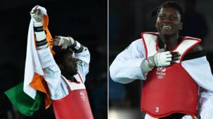 Cheikh Cissé et Ruth Gbagbi