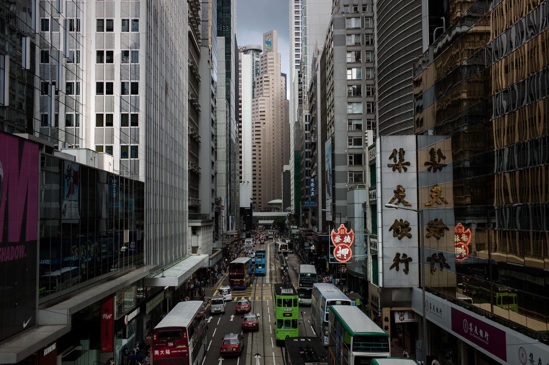 Archivo-Imagen general del distrito financiero de Hong Kong, el 27 de julio de 2015.
