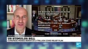 2021-03-11 11:06 US stimulus bill: Congress passes Biden's $1.9 trillion Covid-19 relief plan