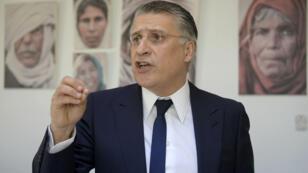 Le candidat à l'élection présidentielle tunisienne Nabil Karoui risque de ne plus pouvoir se présenter.