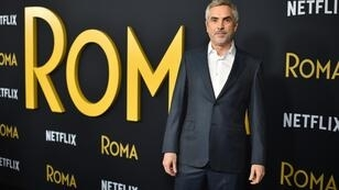 """Le réalisateur mexicain Alfonso Cuarón à Los Angeles pour la première projection de """"Roma"""", le 10décembre2018."""