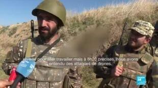 Des civils arméniens devenus combattants dans le Haut-Karabakh du jour au lendemain.