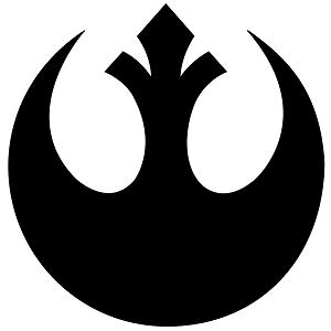 Le logo officieux des opposants à Trump, empruntée à l'imagerie de la saga Star Wars.
