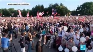 2020-07-31 12:10 Belarus rally attracts thousands to hear presidential rival