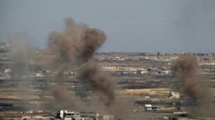 ضربات جوية سابقة للجيش الإسرائيلي على الأراضي السورية