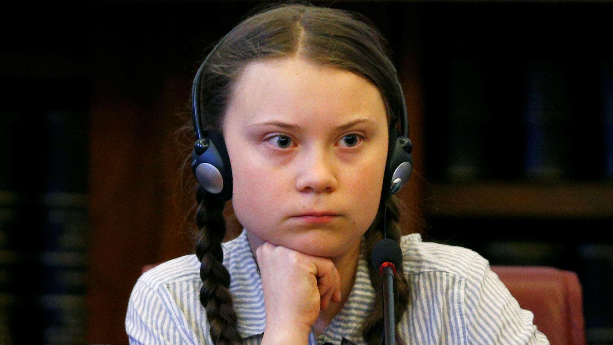 """La creadora de los """"Viernes para el Futuro"""" Greta Thunberg visita el Senado en Roma, Italia, el 18 de abril de 2019."""
