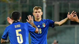 Stefano Sensi scored Italy's goal as they failed to continue their record run of winning matches