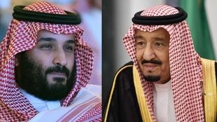 صورة مركبة، الملك سلمان بن عبد العزيز ونجله وولي عهد الأمير محمد بن سلمان