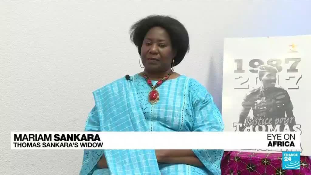 "2021-10-11 21:46 Sankara assassination trial: Compaoré's absence is a ""shame"", Sankara's widow tells FRANCE 24"