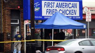 Le restaurant de la famille du principal suspect des attentats de New York et du New Jersey, Ahmad Khan Rahami, à Elizabeth, dans le New Jersey.
