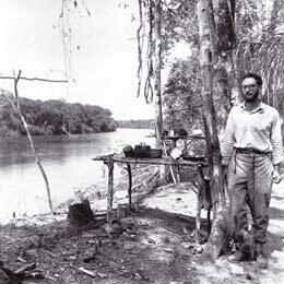 Claude Lévi-Strauss en mission dans l'Amazonie, au Brésil, en 1936