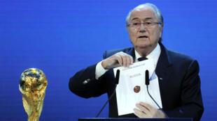 الرئيس السابق للاتحاد الدولي لكرة القدم جوزيف بلاتر
